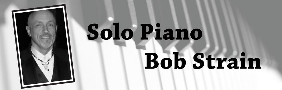 Image of SOLO PIANO - BOB STRAIN
