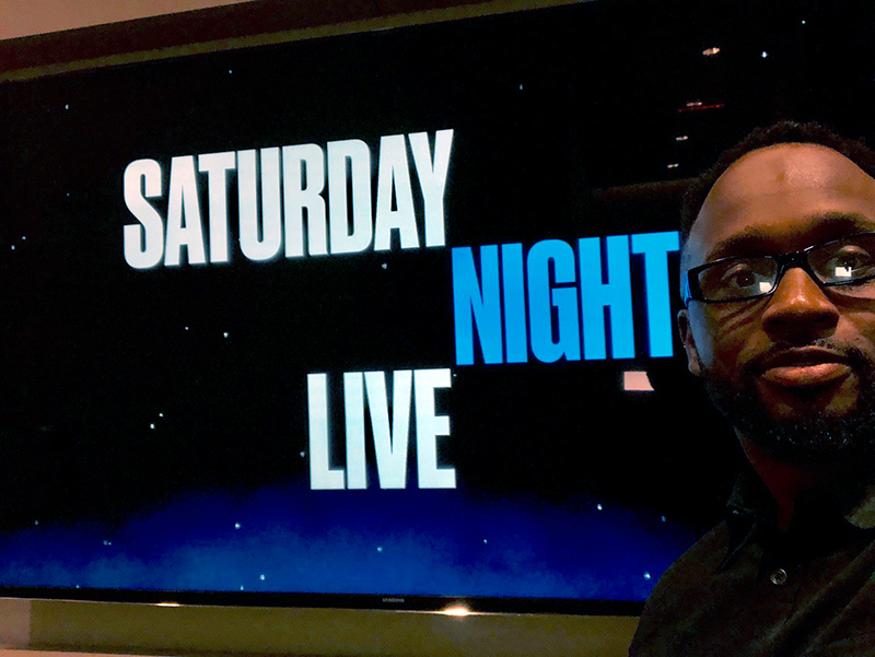 Comedian Will Jacobs at the studio of Saturday Night Live in NYC