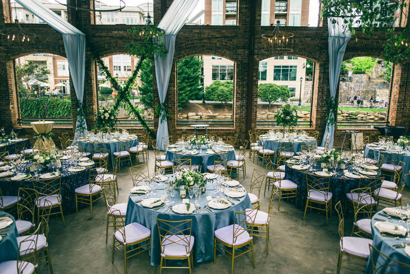 wyche pavilion decorated for wedding