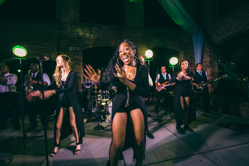 greenville sc wedding band at wyche pavilion