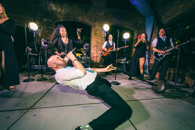 greenville wedding band performing at Wyche Paviliion