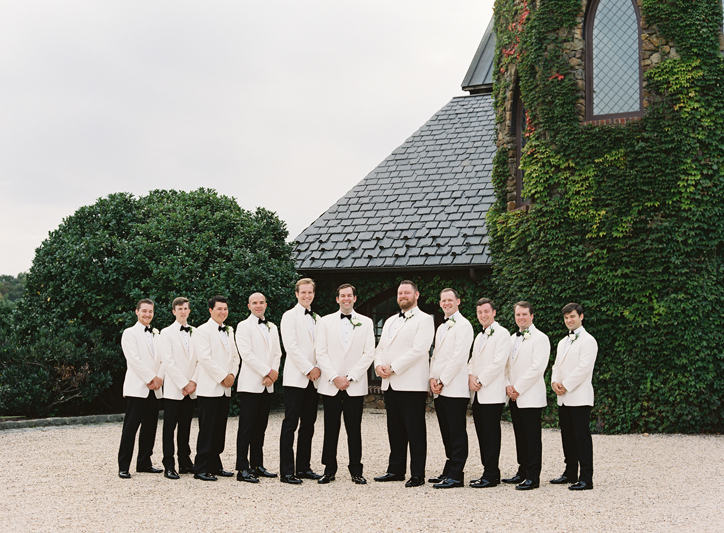 Groom and Groomsmen at Dover Hall
