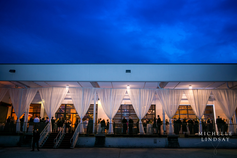 Wedding reception at Dock 5 at Union Market