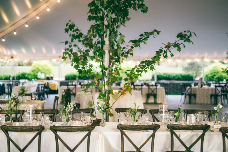 Summerfield Farms rustic wedding reception.