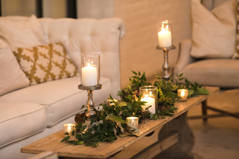 Lounge seating during wedding reception at The Stave Room.