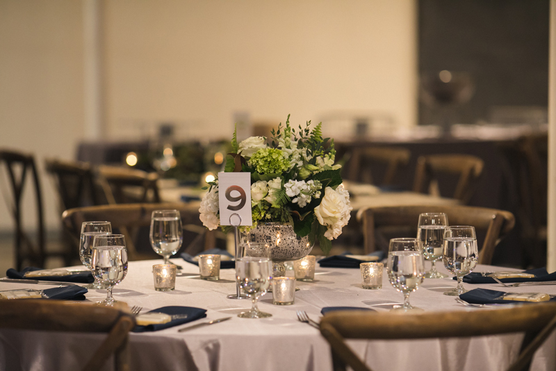 Table setting at The Stave Room wedding reception.