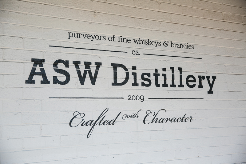 ASW Distillery sign.