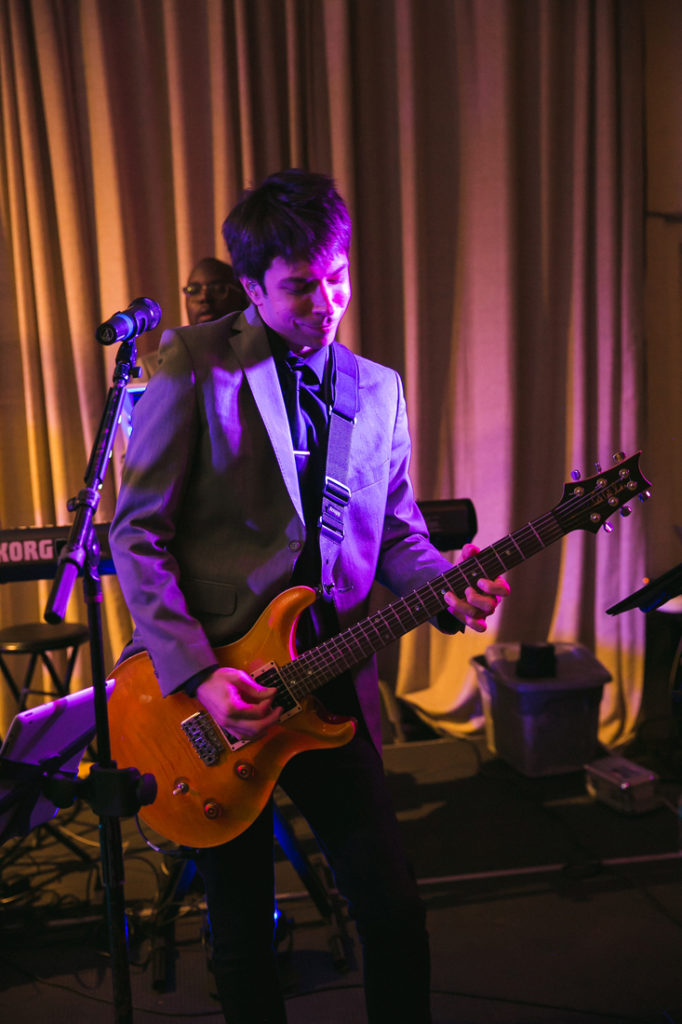 Guitarist of We Got The Beat band during The Stave Room wedding.