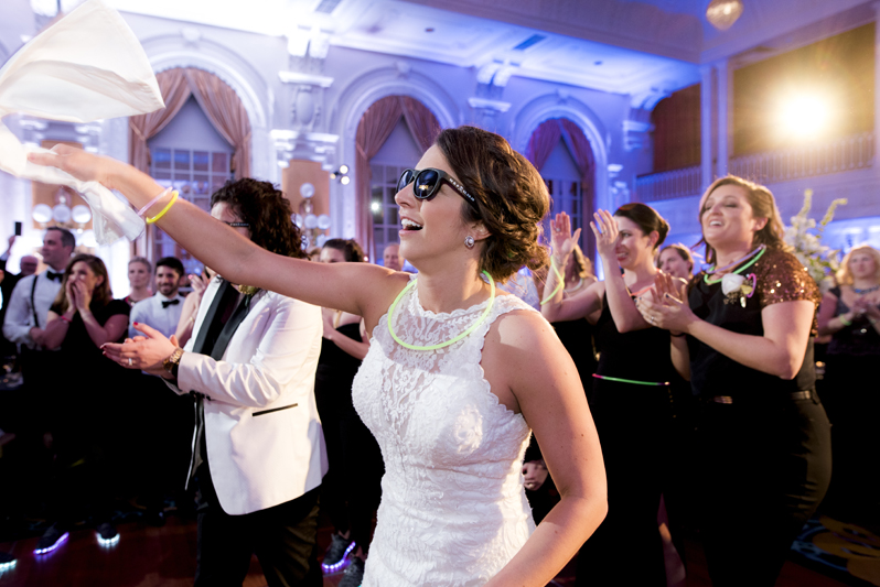 Brides dancing during their The Jefferson Hotel wedding reception.