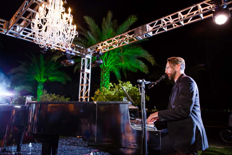 Dueling pianos at a New Orleans themed corporate event at the Wigwam Resort.