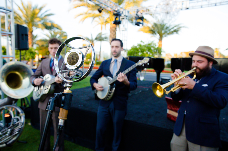 California Feetwarmers band at a New Orleans theme corporate event.