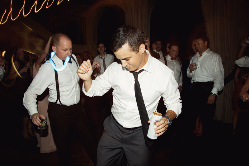 Guy dancing at wedding reception to Loose Chain.