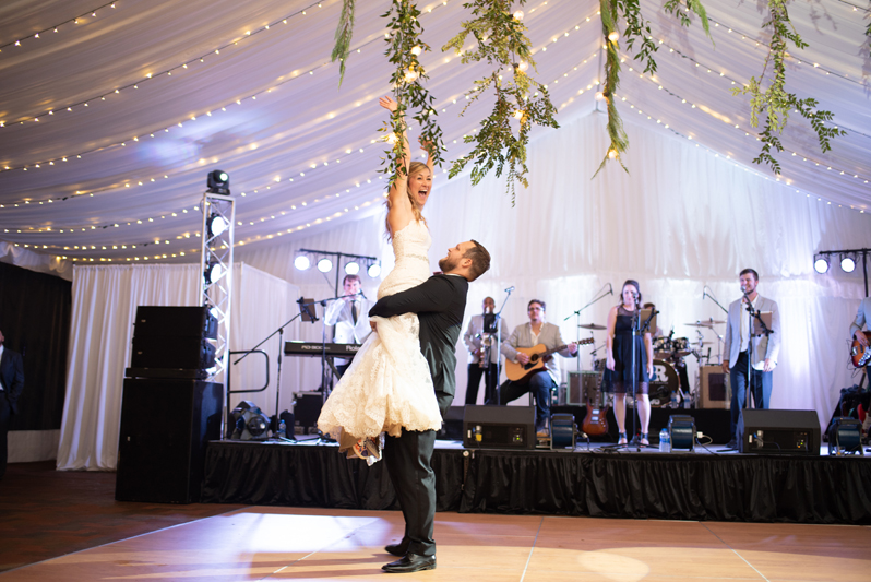 Bride and groom's first dance during Biltmore wedding reception.