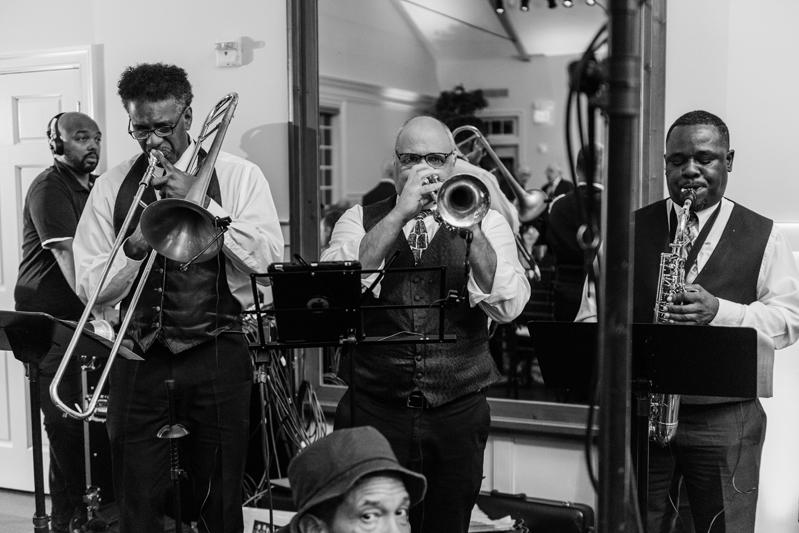 DC wedding band, Broadsound, performing at Bride and groom dancing The Hora at Jewish wedding at Chesapeake Bay Beach Club wedding.