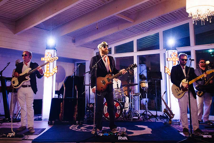 Yacht Rock band performing at an event.